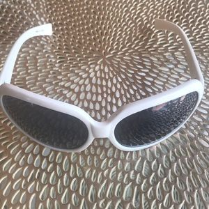 Betsy Johnson White Sunglasses